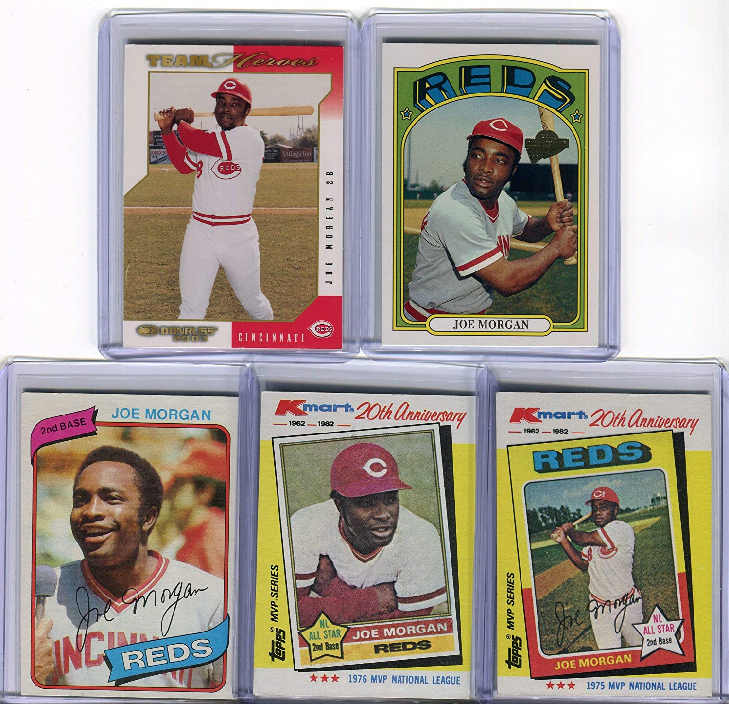 Amazon Com Joe Morgan Cincinnati Reds Assorted Baseball Cards 5 Card Lot Sports Collectibles His birthday, what he did before fame, his family life, fun trivia facts he married theresa morgan in 1990 and he had four daughters, angela, ashley, lisa and kelly. joe morgan cincinnati reds assorted baseball cards 5 card lot