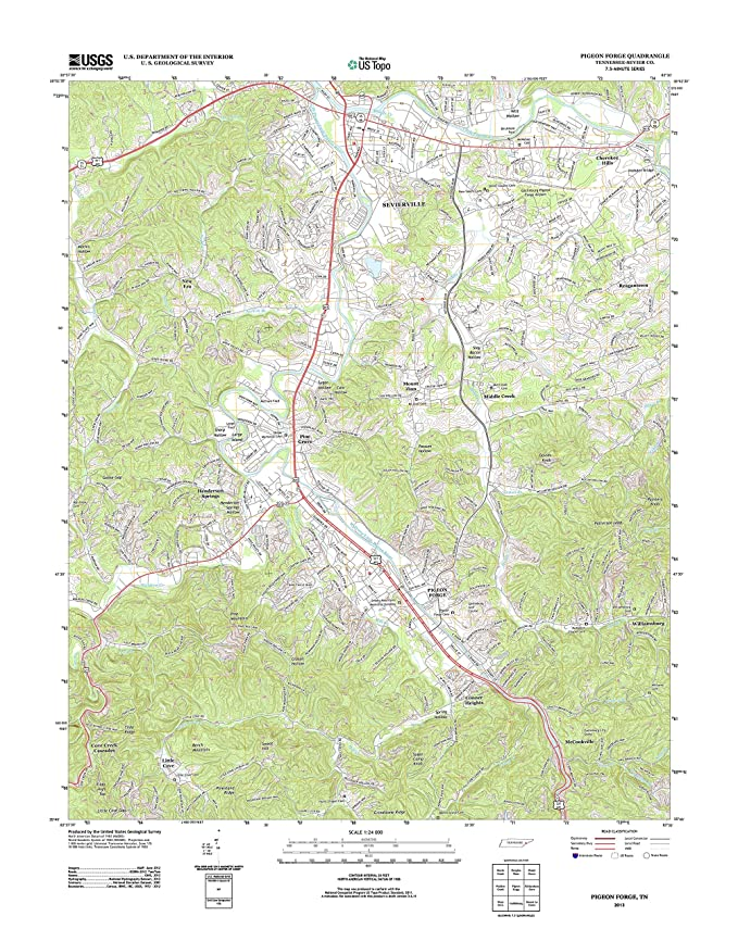 Review Topographic Map Poster -