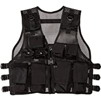 Modern Warrior Junior Black Tactical Vest Fits Children and Teens 50-125-Pounds