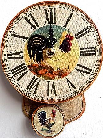 orologio da parete design mini gallo colori per cucina o salotto ... - Orologio Da Parete Per Cucina