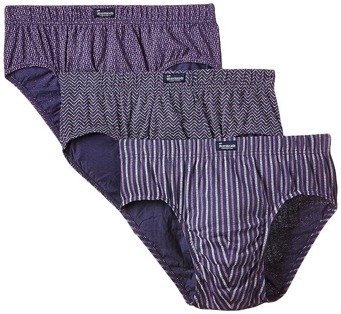 Abanderado Slip Cerrado De Algodón 100% Estampado - Pack x3, color lila zigzag +