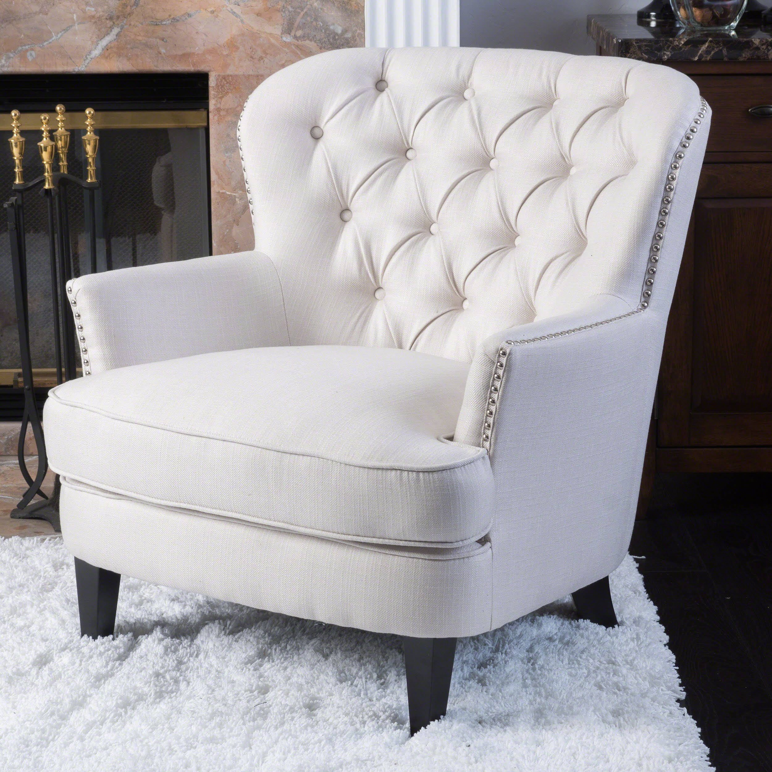 Christopher Knight Home Ckh Arm Chair, Ivory by Christopher Knight Home
