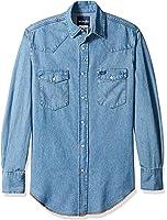 Wrangler Men's Motorcycle Denim Blue Shirt