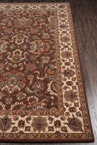 Momeni Rugs Persian Garden Collection, 100 New Zealand Wool Traditional Area Rug, 9 6 x 13 , Cocoa