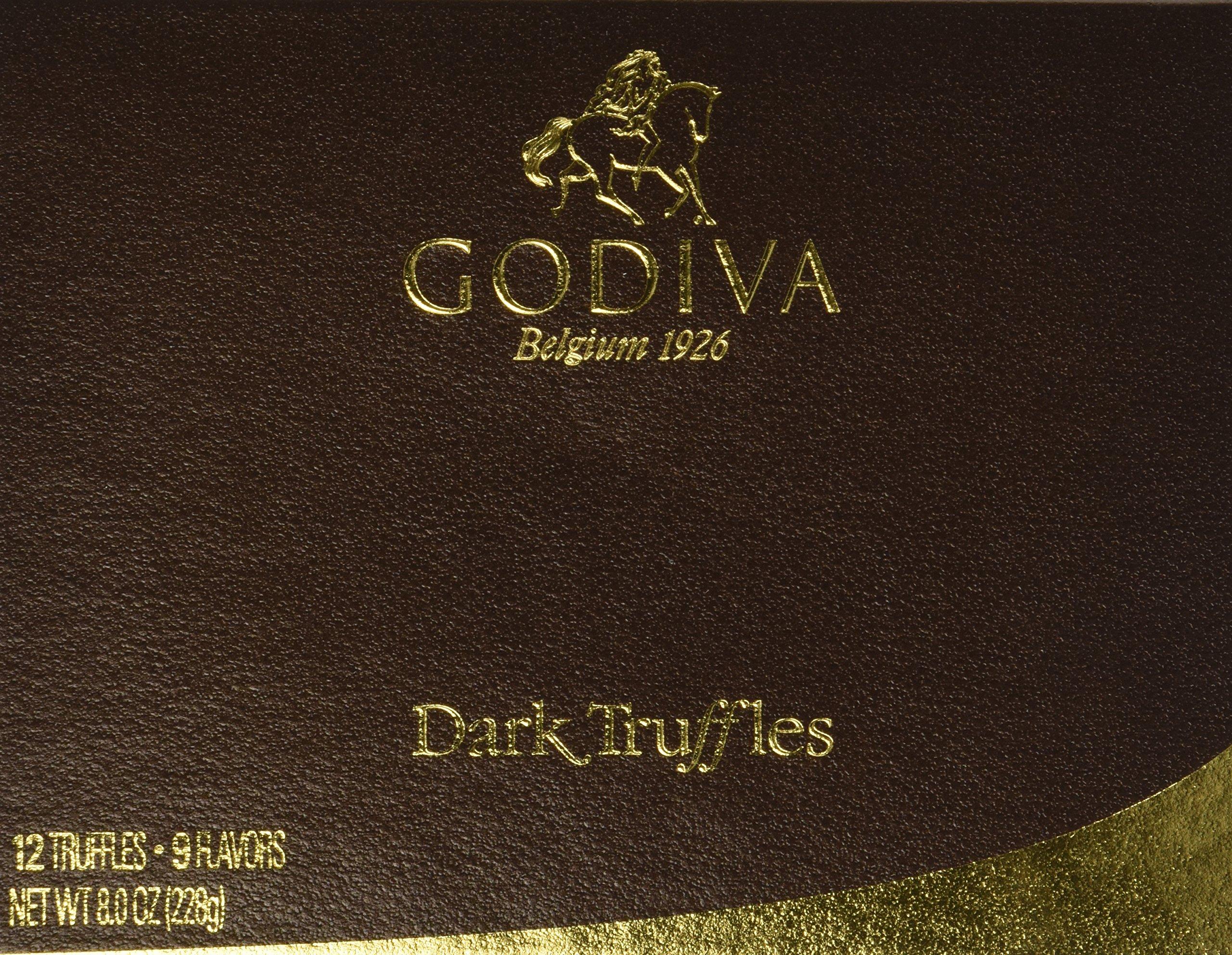 Godiva Dark Chocolate Truffles Gift Box (12pcs) by GODIVA Chocolatier