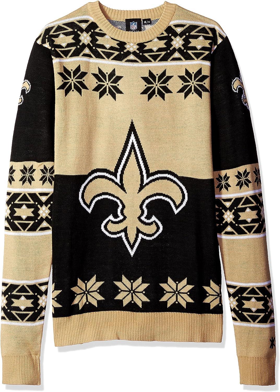 FOCO NFL Unisex-Adult Big Logo Ugly Sweater