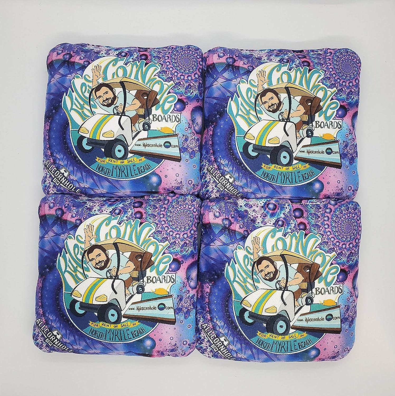 Purple Professional Cornhole Bags with Tote Bag//Bean Bags