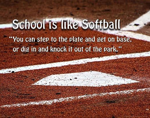 Baseball Motivational Poster Art Print Little League Sports Equipment Shoes Gloves 11x14