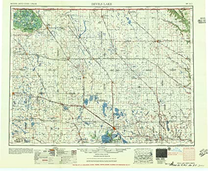 Amazon.com : YellowMaps Devils Lake ND topo map, 1:250000 Scale, 1 on