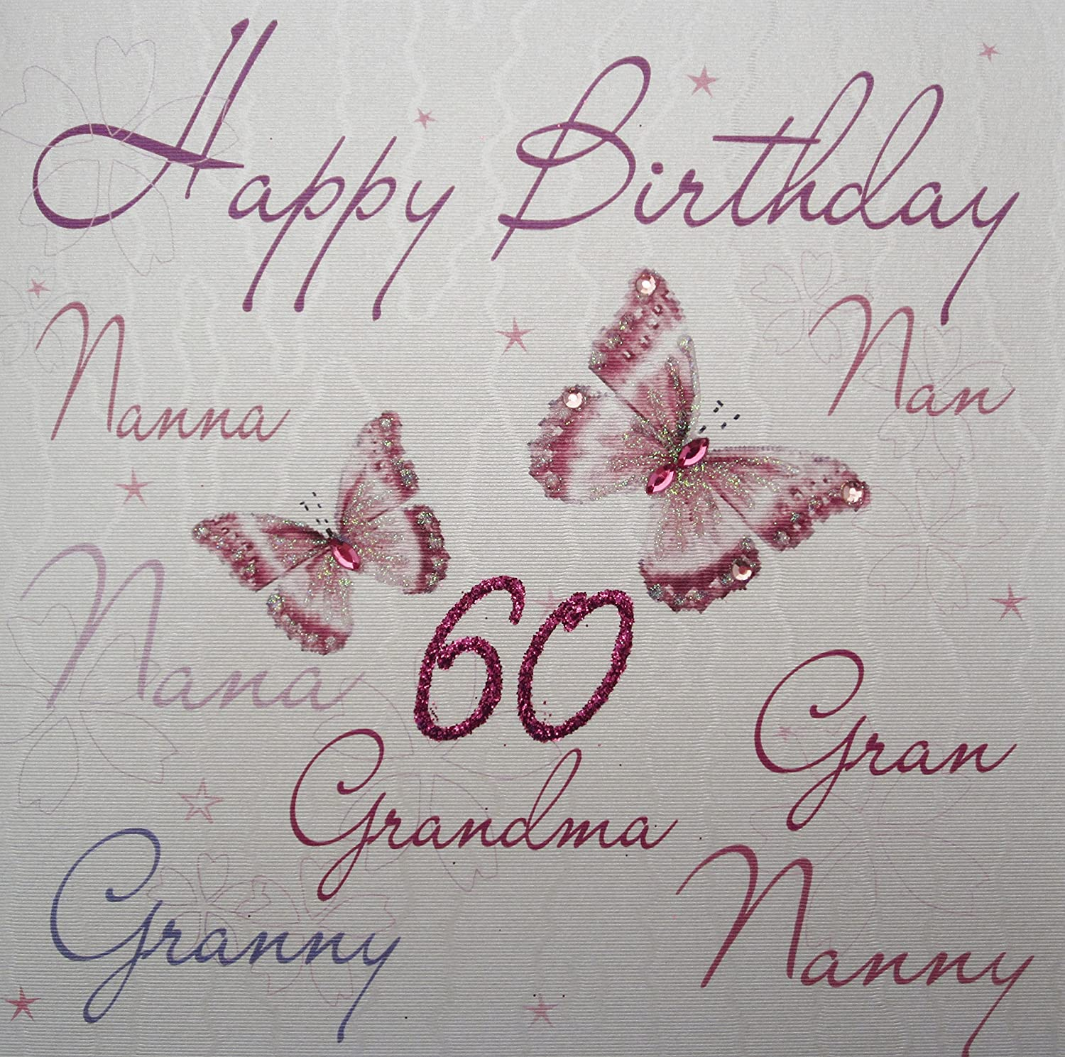 White cotton cards wb125 60 nannanannanagrangrannynanny white cotton cards wb125 60 nannanannanagrangrannynannygrandma happy birthday 60 handmade 60th birthday card white amazon kitchen home bookmarktalkfo Image collections