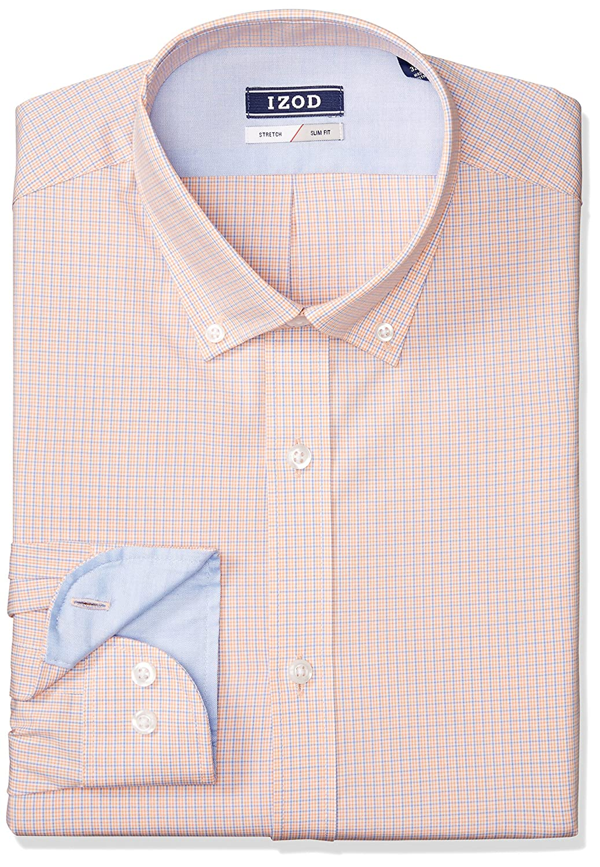Izod Mens Dress Shirts Slim Fit Stretch Mini Plaid At Amazon Mens