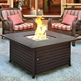 Real flame baltic square propane fire table for Global outdoors fire table