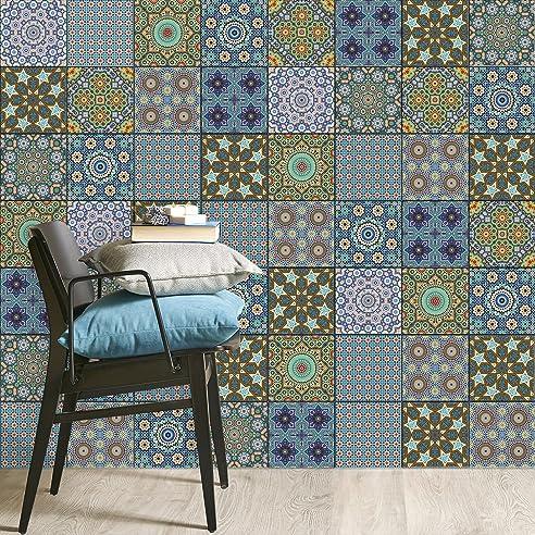 Mosaikfliesen Folie | PVC Fliesen-Aufkleber - Wandfliesen von Bad ...