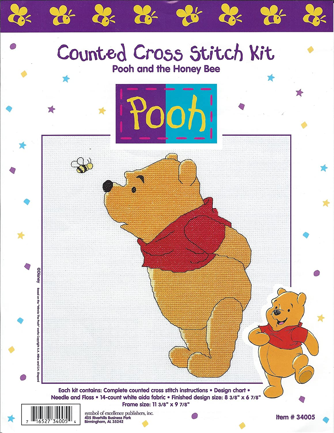 Amazon Pooh And The Honey Bee Counted Cross Stitch Kit 34005