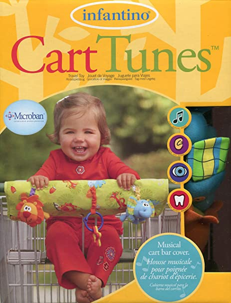 Amazon.com: Infantino Cart Tunes - Musical Cart Bar Cover Jungle Jam with Microban: Toys & Games