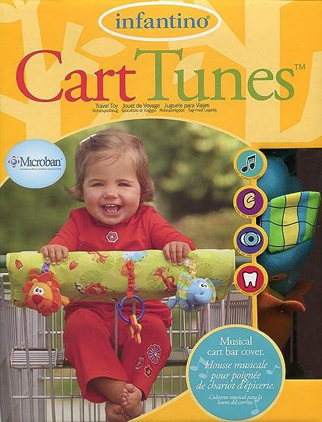 Amazon.com: Infantino Cart Tunes - Musical Cart Bar Cover Jungle Jam with Microban: Toys & Games