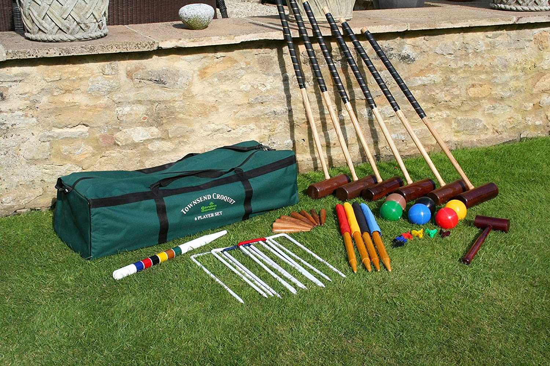 Townsend Croquet Set Garden Games G.G 6 Player in Bag