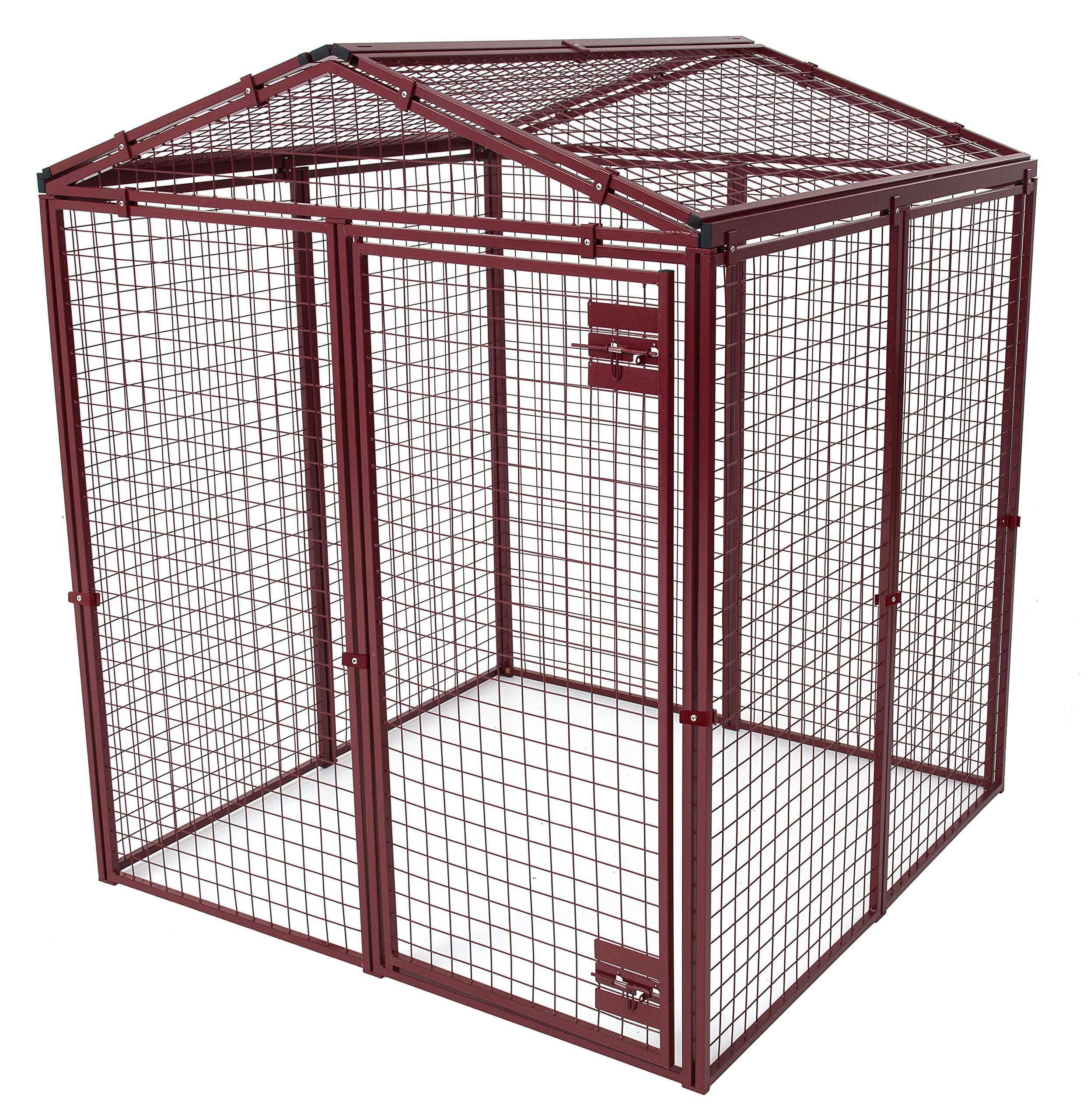 Animal House Heavy Duty Gable Covered Protective Pet Kennel (6.2'Hx5'Lx5'W) 128.2 lbs by Animal House