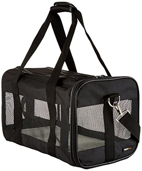 cc00d51a24f Amazon.com   AmazonBasics Black Soft-Sided Pet Carrier - Medium ...