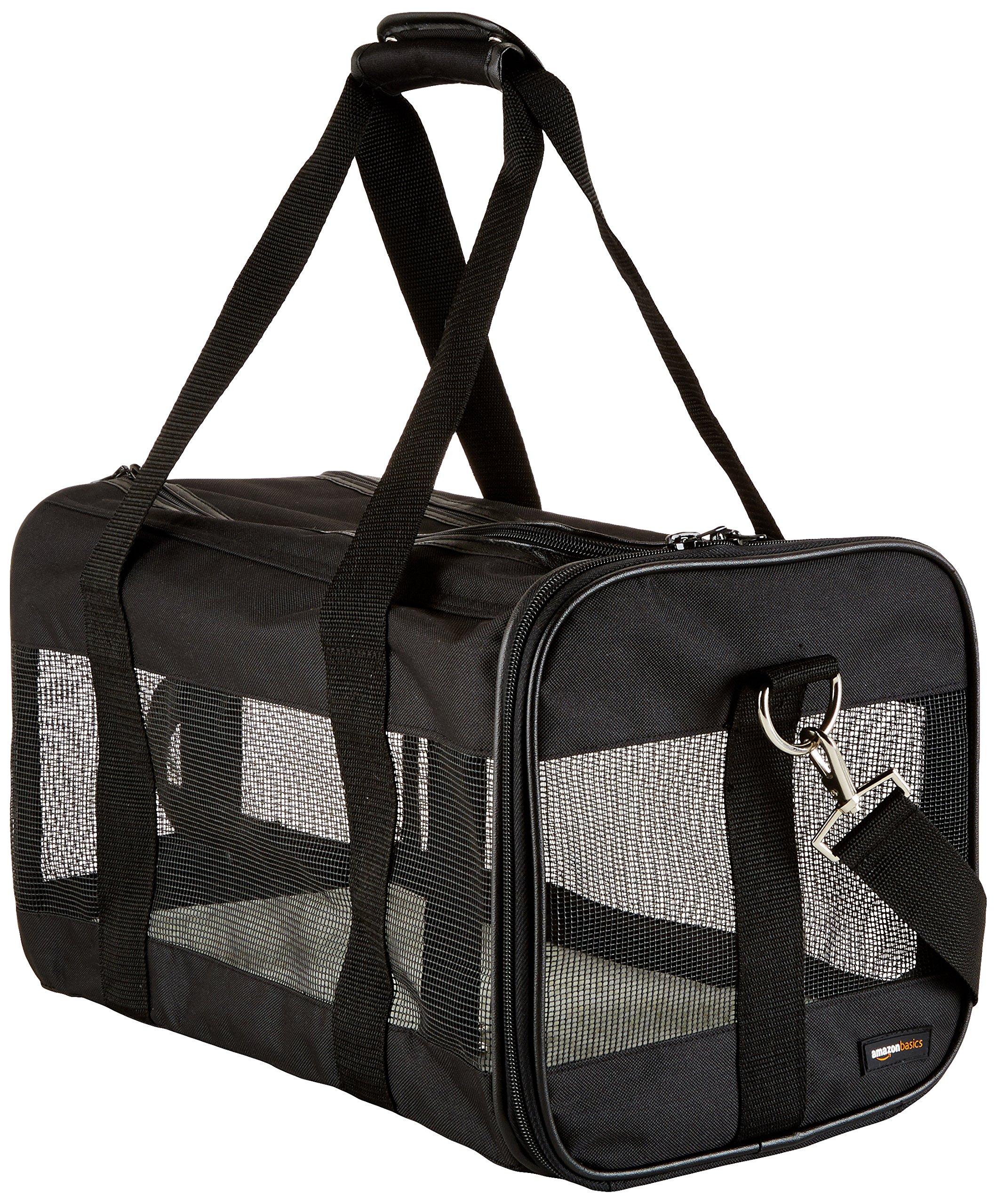AmazonBasics Black Soft-Sided Pet Carrier - Medium product image