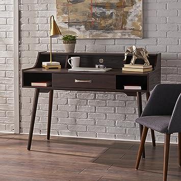 Belinda Home Office Desk | Danish, Minimalist, Mid Century Modern Design |  Wenge