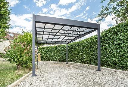 Trigano Carport Libeccio 15,8 m2 de aluminio, incluye canalones y ...