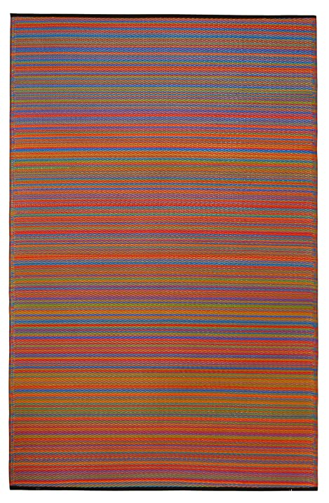 Fab Habitat Cancun Indoor/Outdoor Rug, Multicolor, ...