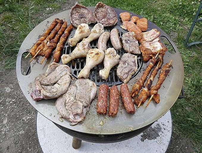 Piastra in acciaio 25x40cm per griglia barbecue kombi