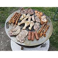 Feuerstelle Stahl silber groß Fire Pit ✔ Grillen mit Holzkohle