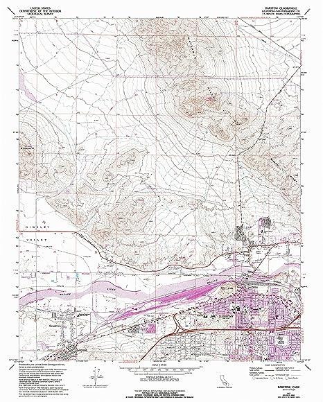 Amazon Com Yellowmaps Barstow Ca Topo Map 1 24000 Scale 7 5 X