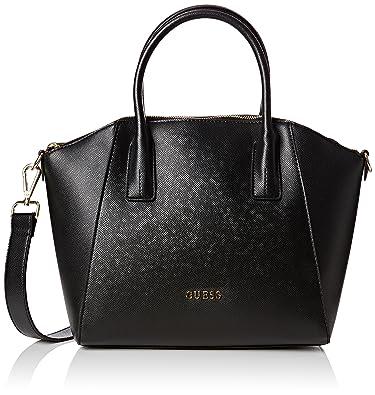 Guess Women's Isabeau Medium Satchel Handbag Black Size: One Size ...