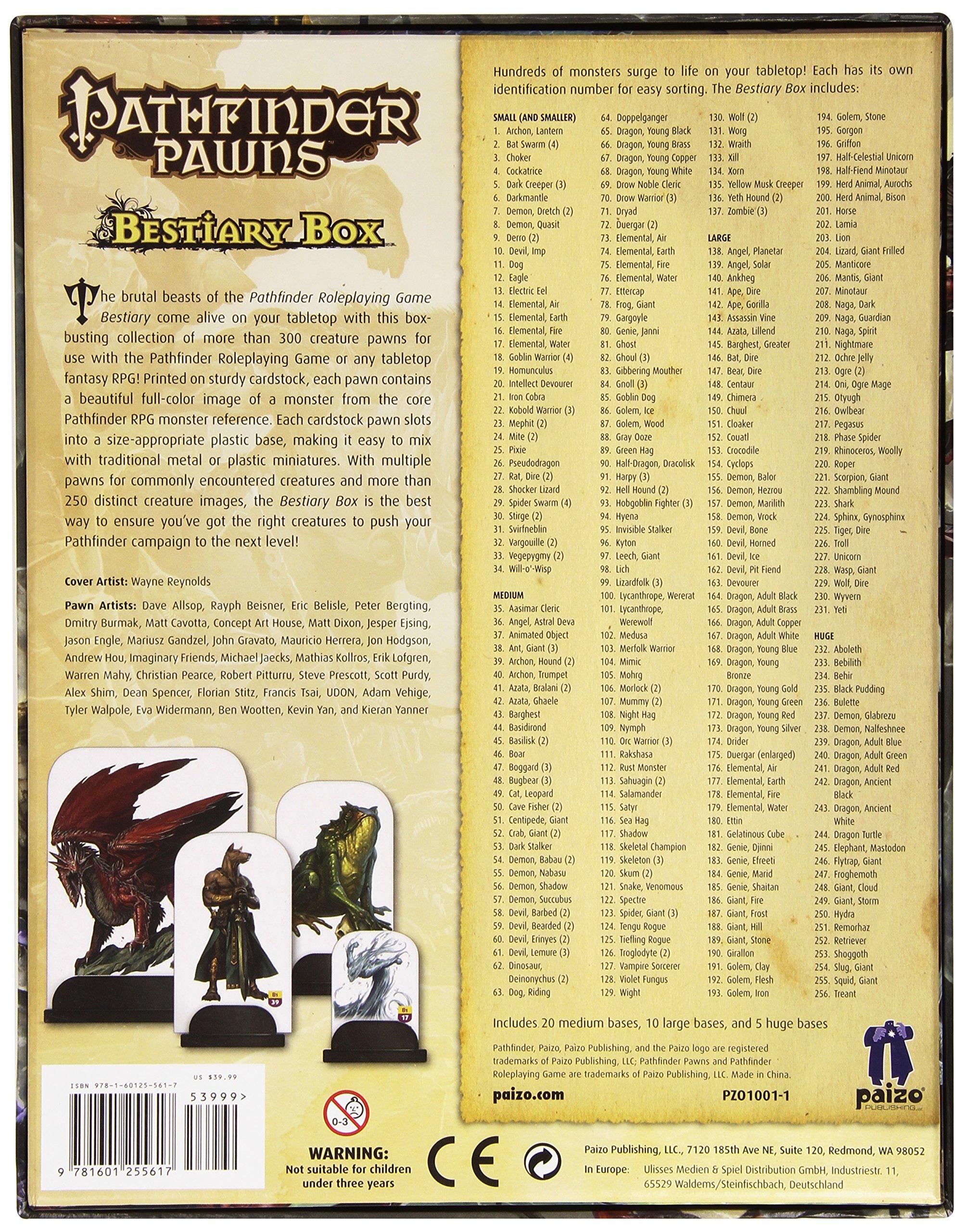 Galleon Pathfinder Pawns Bestiary Box