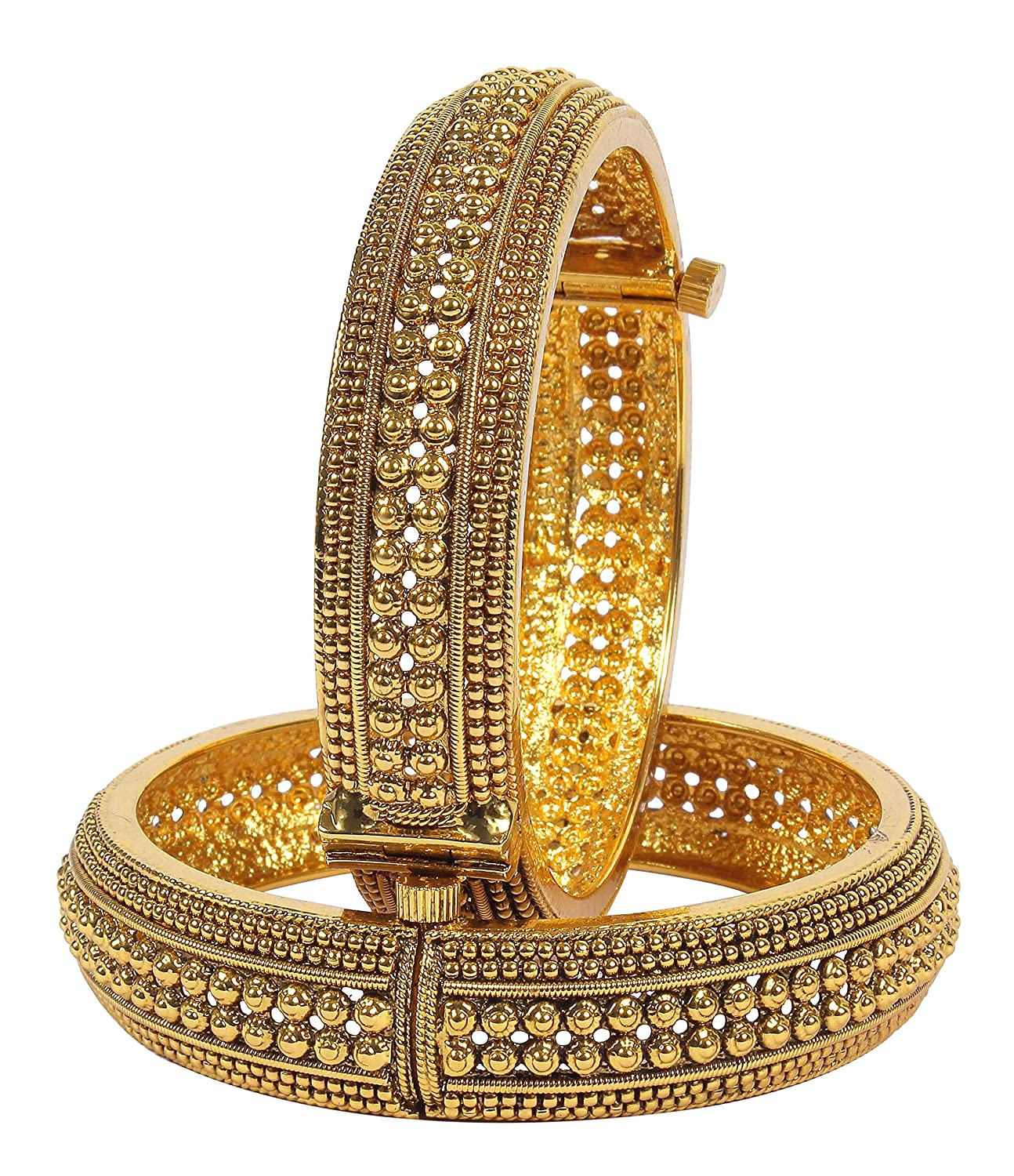 Buy Much More Gold Plated Bangle Set For Women(2.6) Online at Low ...