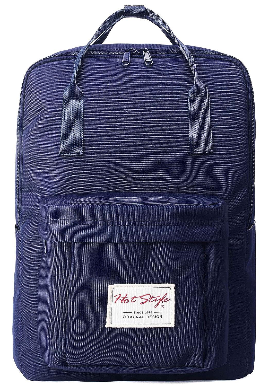 HotStyle Leicht Daypack Rucksack mit 15 Zoll Laptopfach (39x27x14cm) - Navyblau HTD143A