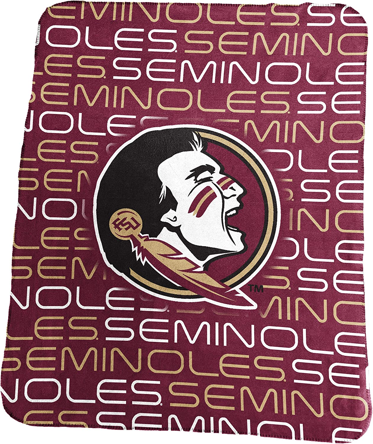 "Collegiate 50x60"" Classic Fleece Throw Blanket"