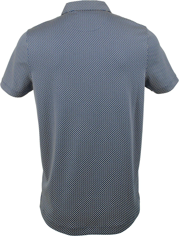 Mens Printed Interlock Polo Shirt