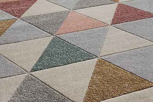 Well Woven Cream Clark Modern Geometric Triangles 7'10″ x 9'10″ Area Rug
