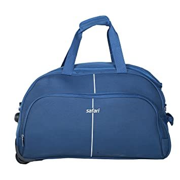 Safari Polyester Pulse WHD Duffel Bag Blue 65 cm  Amazon.in  Bags ... b0cfeac8cef14