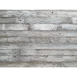 Reclaimed Barn Wood Wall Panel- Easy Peel and Stick Application (40 Sq Ft, Whitewashed Barn Wood)