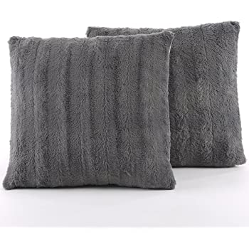 Danmitex Set Of 4040x40Down Feather Throw Pillow InsertsCotton Fabric Awesome Feather Throw Pillow Inserts