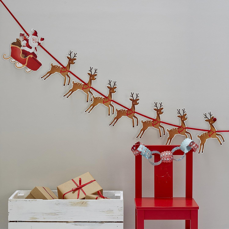 Ginger Ray Christmas Rudolf Reindeer & Santa Sleigh Party Kids ...