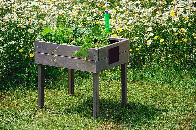 dobar Pizarra de Tiza, pequeño Hierbas Bancal para la terraza y el ...