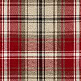 Red Tartan Check Fabric by the Metre - Flat Woven Wool Effect Twill. Upholstery, Curtain and Craft Fabrics 140cm Wide by McAlister Textiles from the 'Angus' design range.