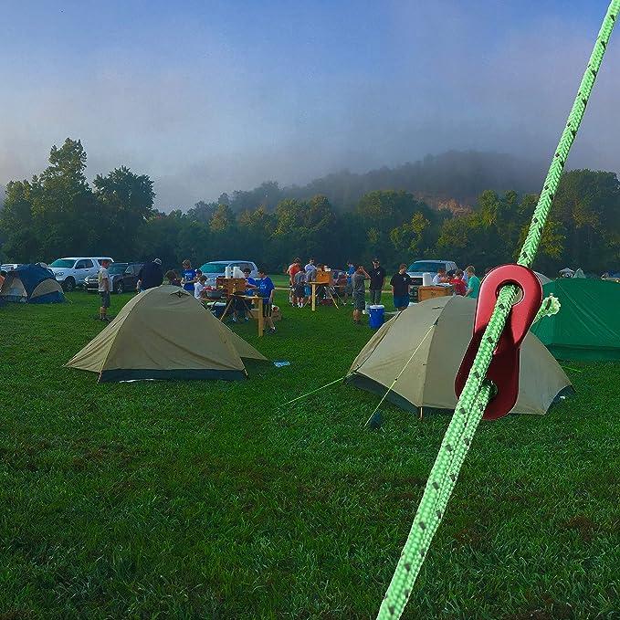 4mm x 10m Abspannseil für Camping Zelt mit 10 Stück Seilspanner
