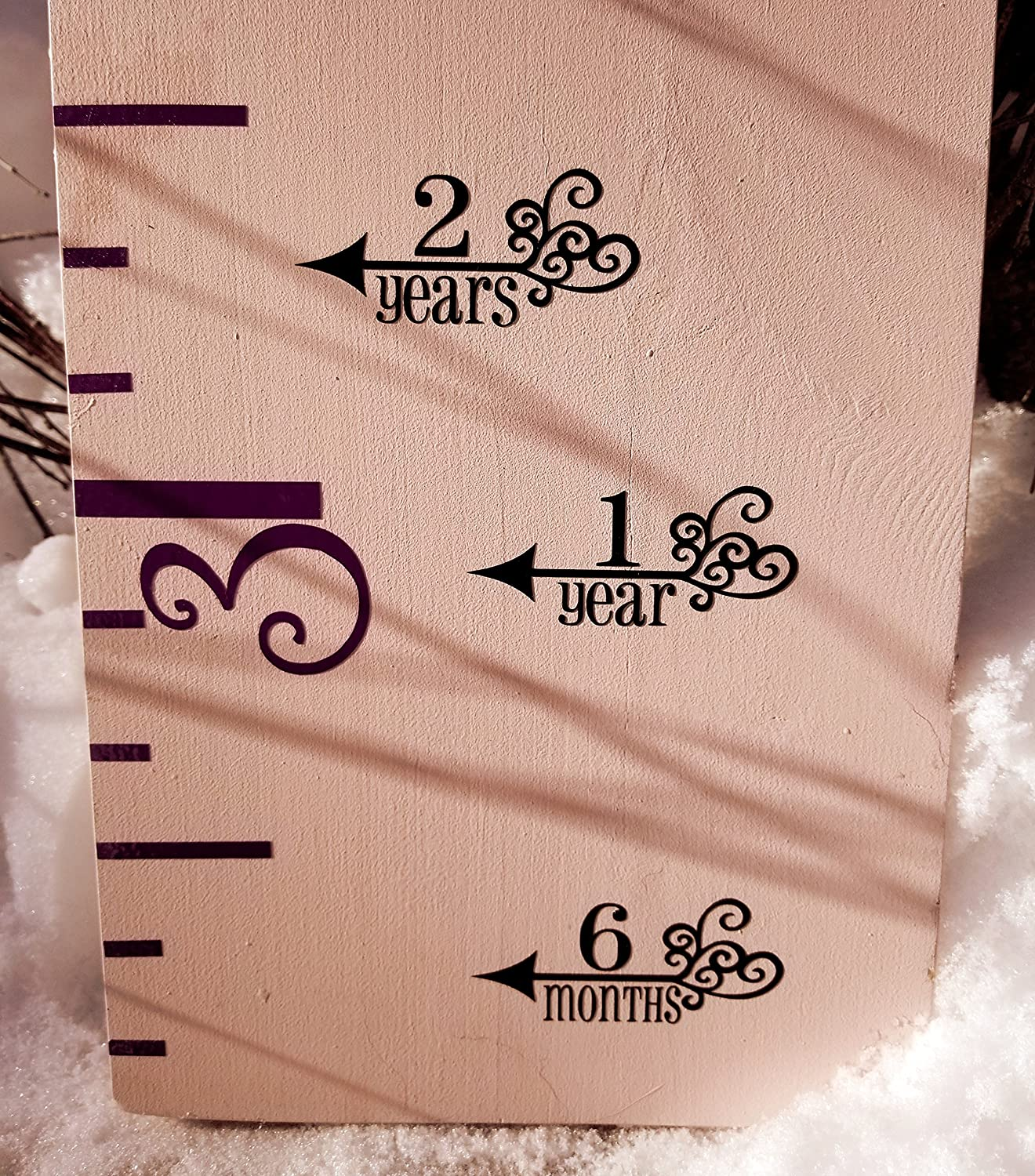 Filigree ~ Height Marking Arrows for Growth Charts. Growth Charts for Girls