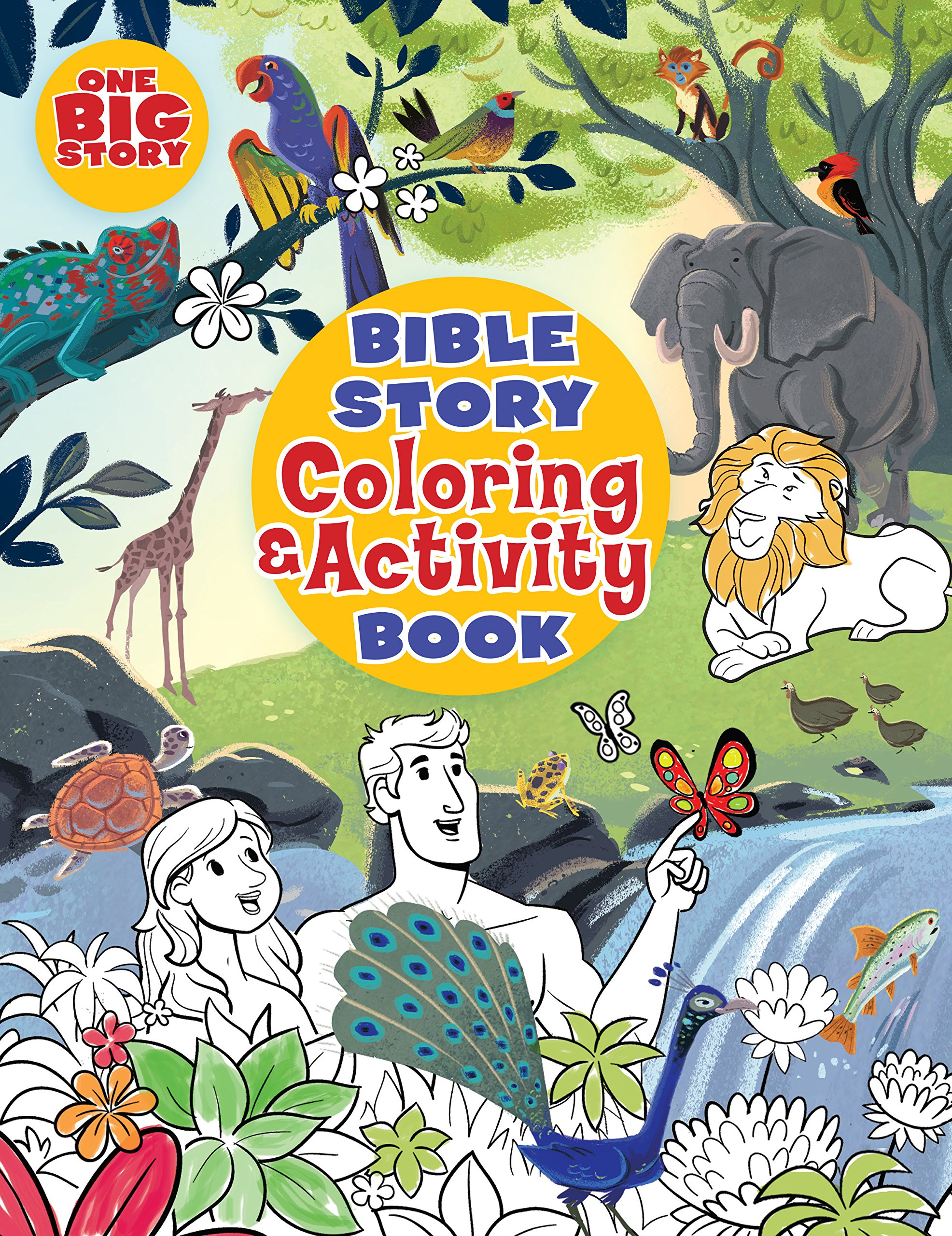 Bible Story Coloring And Activity Book One Big BH Kids Editorial Staff