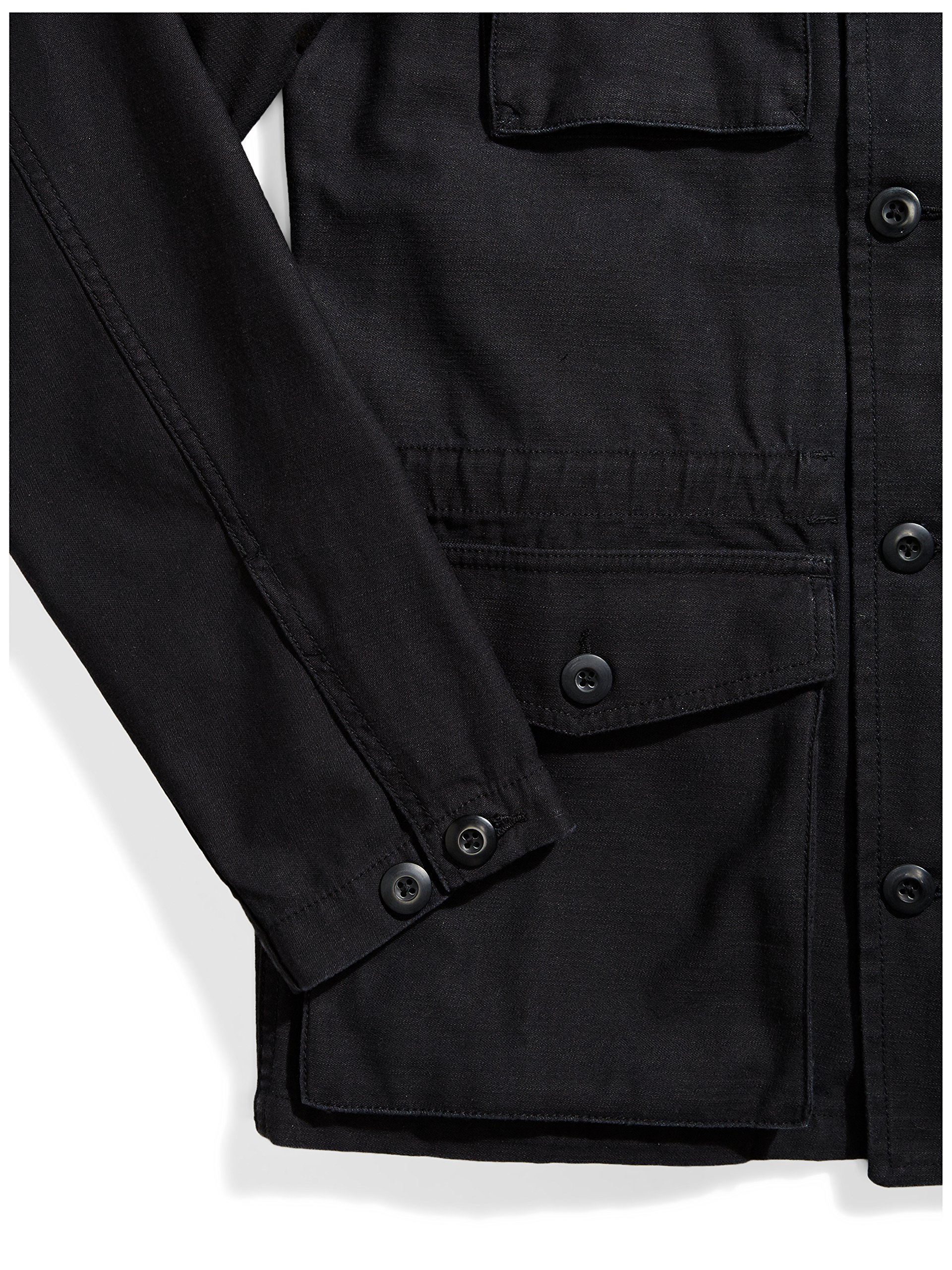 Goodthreads Men's 4-Pocket Military Jacket, Caviar/Black, Large by Goodthreads (Image #6)