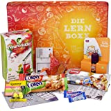 Lern-Boxx (13 Teile) Geschenk für Schüler - Lernbox zur Lernmotivation mit vielen Lernhilfen, gesunden Snacks, Neuronade & Co.