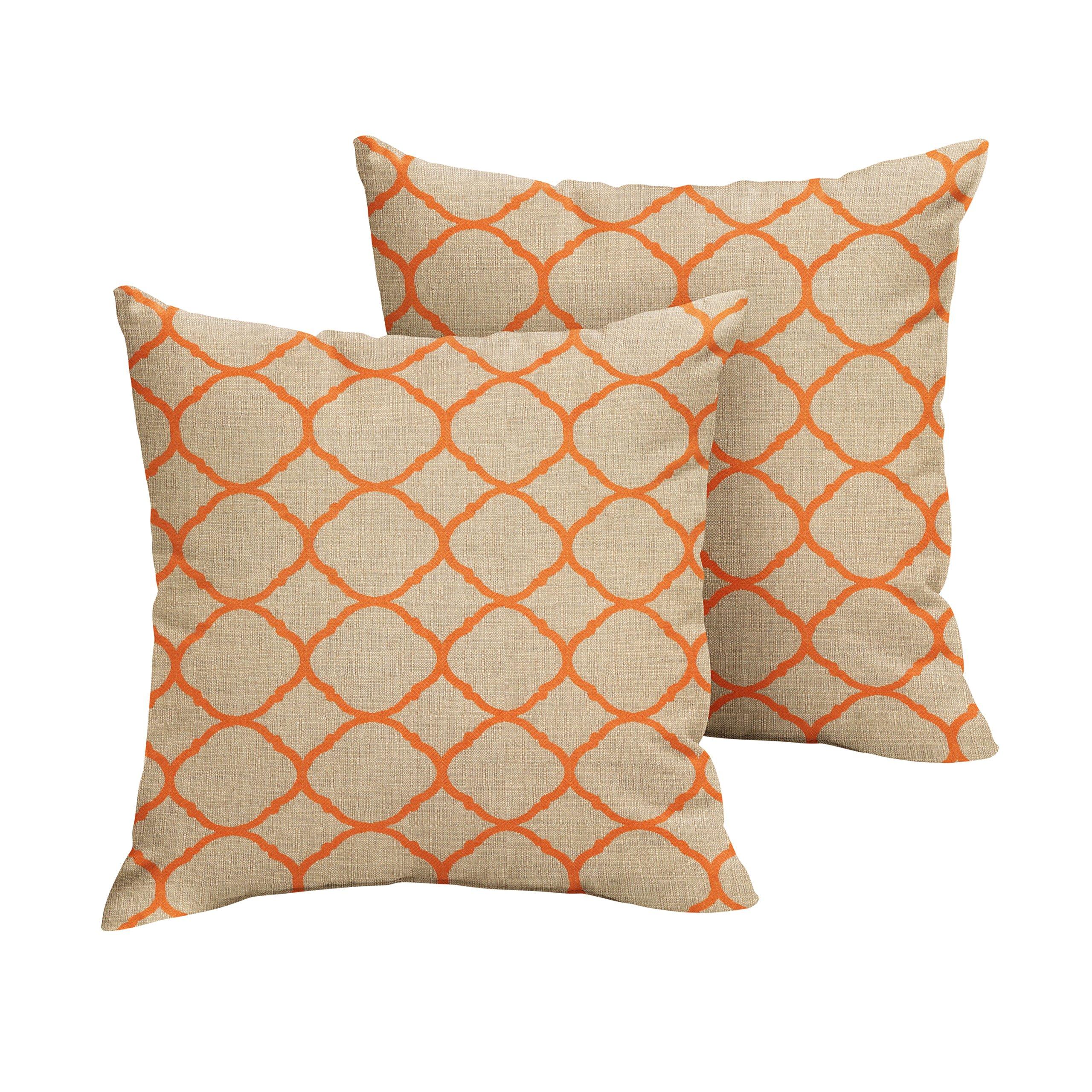 Mozaic AMPS106681 Square Pillow, 16'' Sunbrella - Accord Koi