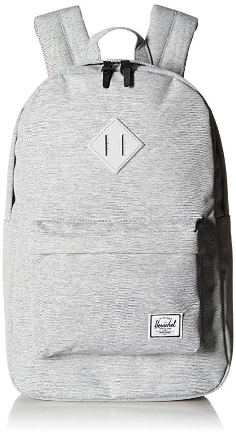 3c06197386e Herschel Supply Co. Heritage Mid-Volume Backpack, Light Grey Crosshatch Grey  Rubber, One Size  Amazon.ca  Luggage   Bags